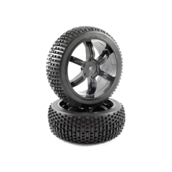 Tyre Mounted Narrow Block 6 Spoke Wheel (pair)