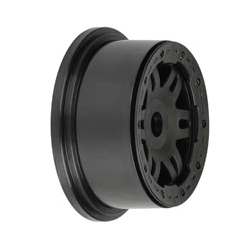 Wheel Split Six Baja 5T Rear Black (pair)