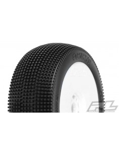 Tyre Mounted Fugitive X3 LightWeight White Wheel (pair)