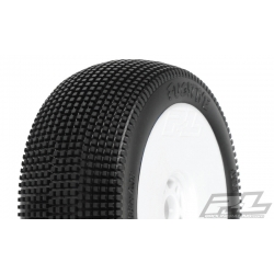 Tyre Mounted Fugitive X4 LightWeight White Wheel (pair)