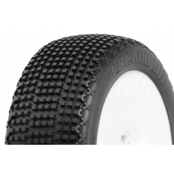 Tyre Mounted Lockdown X4 LightWeight White Wheel (pair)