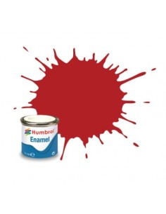 Humbrol - AA1660 - 153 Insignia Red Matt - 14ml Enamel Paint  - Hobby Sector