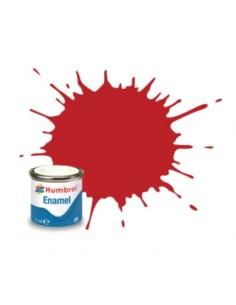 Humbrol - AA0655 - 60 Scarlet Matt - 14ml Enamel Paint  - Hobby Sector
