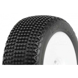 Tyre Mounted Lockdown X2 LightWeight White Wheel (pair)
