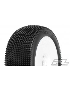 Tyre Mounted Fugitive X2 LightWeight White Wheel (pair)