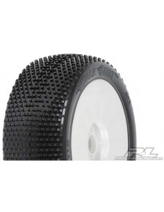 Tyre Mounted Holeshot X4 LightWeight White Wheel (par)