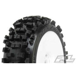 Tyre Mounted Badlands XTR All Ter. V2 White Wheels (pair)