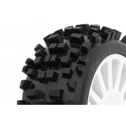 Tyre Mounted Badlands White Wheels (par)