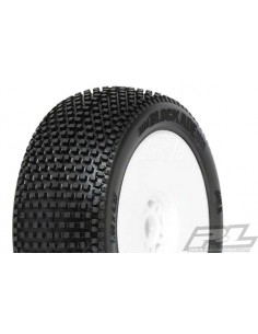 Tyre Mounted Blockade X3 V2 White Wheels (pair)
