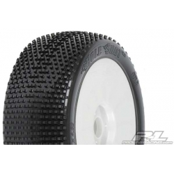 Tyre Mounted Holeshot X3 LightWeight White Wheels (par)