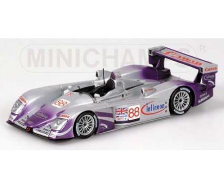 Minichamps - 400041388 - Audi R8 - Davies/Herbert/Smith - Audi Sport Uk Team Veloqx - 24H Le Mans 2004  - Hobby Sector