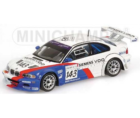 BMW M3 GTR - Mollekens/Lamy/Garcia/Priaulx - Team BMW Motorsport - 24H SPA 2004