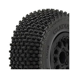 "ProLine Short Course Tyre Mounted Gladiator 2.2""/3.0"" M2 on Renegade Black Wheels (par)"