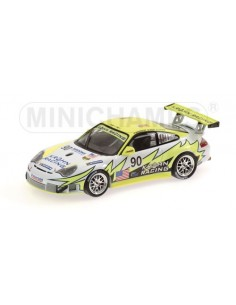 Minichamps - 400066490 - PORSCHE 911 GT3 RSR - BERGMEISTER/JOENSSON/KROHN - WHITE LIGHTNING RACING - 24H LE MANS 2006  - Hobb...