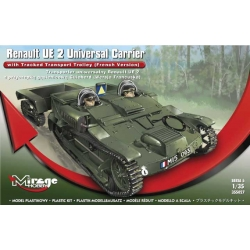 Renault UE 2 Universal Carrier Carrier with Tracked Transport Trolley (French Version)