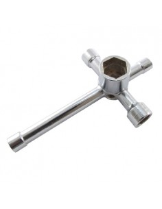 6-Way Cross Wrench (5.5, 7.8, 10, 12, 17mm hex sizes)