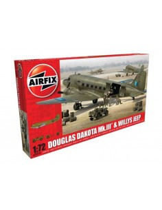 Airfix - A09008 - Douglas Dakota MkIII with Willys Jeep  - Hobby Sector