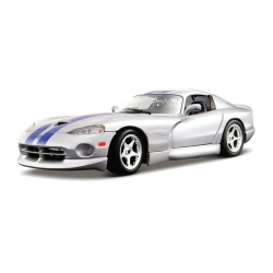 Dodge Viper GTS 1998 Silver with Blue Stripes