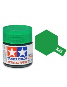 Tamiya - X-25 - X-25 Clear Green - 10ml Acrylic Paint  - Hobby Sector
