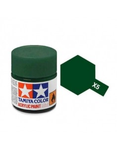Tamiya - X-5 - X-5 Green Gloss - 10ml Acrylic Paint  - Hobby Sector