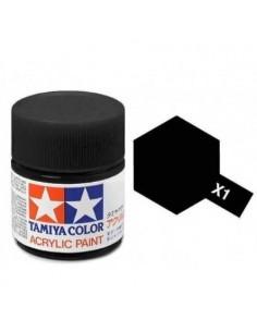 Tamiya - X-1 - X-1 Black Gloss - 10ml Acrylic Paint  - Hobby Sector