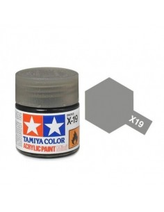 Tamiya - X-19 - X-19 Smoke Gloss - 10ml Acrylic Paint  - Hobby Sector