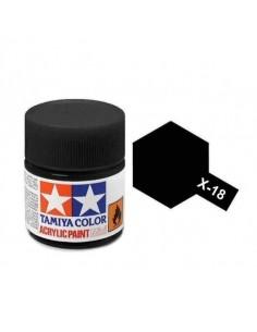 Tamiya - X-18 - X-18 Semi Gloss Black - 10ml Acrylic Paint  - Hobby Sector