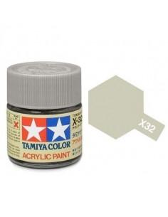Tamiya - X-32 - X-32 Titanium Silver - 10ml Acrylic Paint  - Hobby Sector