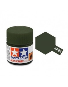 Tamiya - XF-81 - XF-81 Dark Green 2 (RAF) - 10ml Acrylic Paint  - Hobby Sector