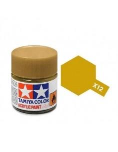 Tamiya - X-12 - X-12 Gold Leaf - 10ml Acrylic Paint  - Hobby Sector