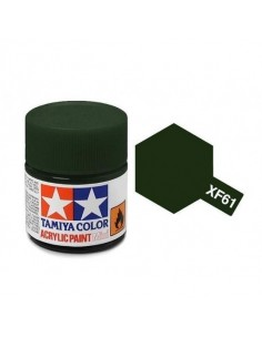 Tamiya - XF-61 - XF-61 Dark Green - 10ml Acrylic Paint  - Hobby Sector