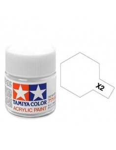 Tamiya - X-2 - X-2 White - 10ml Tinta Acrílica  - Hobby Sector