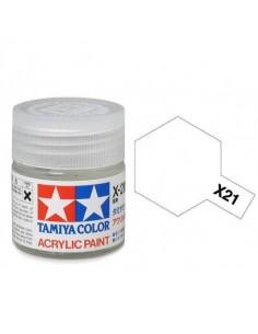 Tamiya - X-21 - X-21 Flat Base (Verniz Mate) - 10ml Tinta Acrílica  - Hobby Sector