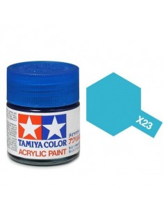 Tamiya - X-23 - X-23 Clear Blue - 10ml Acrylic Paint  - Hobby Sector