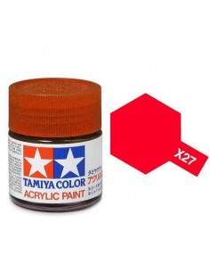 Tamiya - X-27 - X-27 Clear Red - 10ml Acrylic Paint  - Hobby Sector