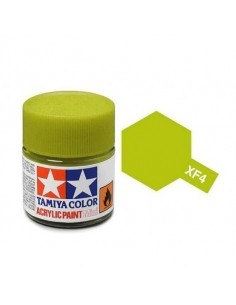 Tamiya - XF-4 - XF-4 Yellow Green - 10ml Acrylic Paint  - Hobby Sector
