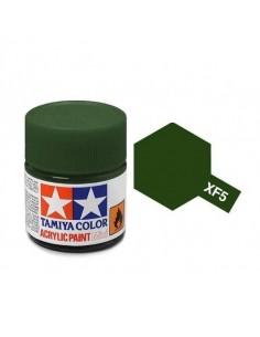 Tamiya - XF-5 - XF-5 Flat Green - 10ml Acrylic Paint  - Hobby Sector
