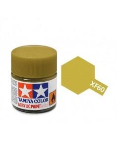 Tamiya - XF-60 - XF-60 Dark Yellow - 10ml Acrylic Paint  - Hobby Sector