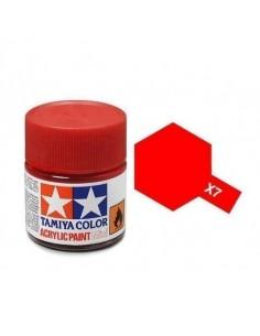 Tamiya - X-7 - X-7 Red - 10ml Tinta Acrílica  - Hobby Sector