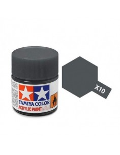 Tamiya - X-10 - X-10 Gun metal - 10ml Acrylic Paint  - Hobby Sector
