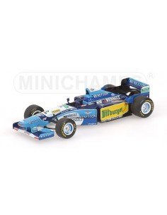 Minichamps - 400950001 - BENETTON RENAULT B195 - MICHAEL SCHUMACHER - WORLD CHAMPION 1995 - (WITHOUT FIGURINE)  - Hobby Sector