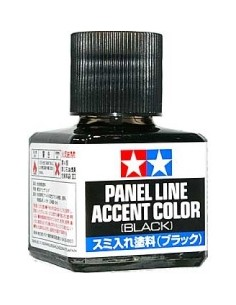 Tamiya - 87131 - Tamiya Panel Line Accent Color (Black)  - Hobby Sector