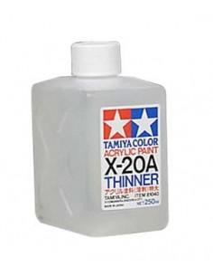 Tamiya - 81040 - X-20A Acrylic Thinner - 250ml  - Hobby Sector