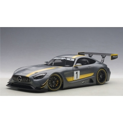 MERCEDES AMG GT3 PRESENTATION CAR (GREY WITH YELLOW ACCENTS)