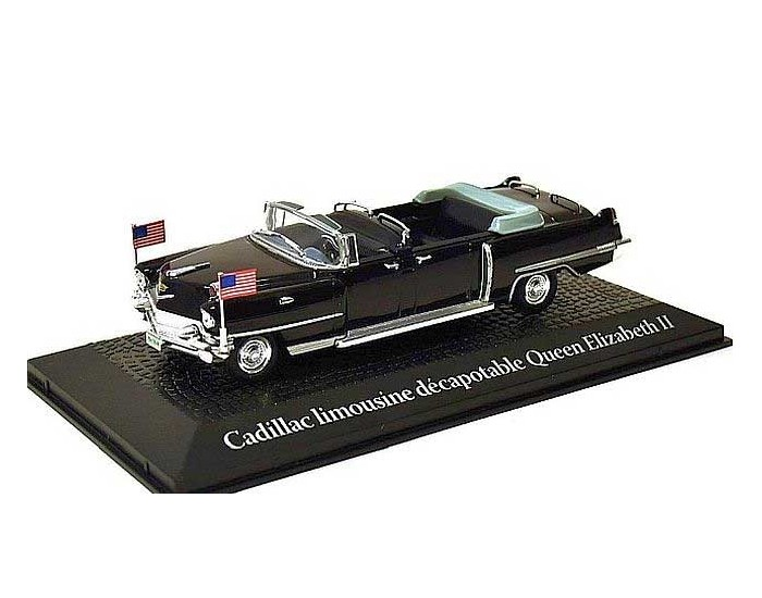 Cadillac Limousine Decapotable Queen Elizabeth II Paris 1959