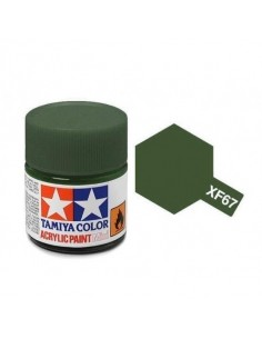 Tamiya - XF-67 - XF-67 NATO Green - 10ml Acrylic Paint  - Hobby Sector