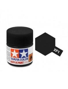 Tamiya - XF-1 - XF-1 Flat Black - 10ml Acrylic Paint  - Hobby Sector