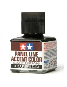 Tamiya - 87140 - Tamiya Panel Line Accent Color - Dark Brown  - Hobby Sector