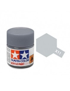 Tamiya - X-11 - X-11 Chrome Silver - 10ml Acrylic Paint  - Hobby Sector