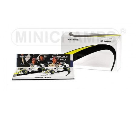 BRAWN GP MERCEDES BGP 001 - 2-CAR SET - BUTTON/BARRICHELLO - 1-2 FINISH AUSTRALIAN GP 2009